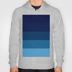 Teal Ocean Blue Stripes Hoody