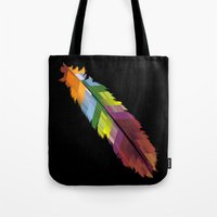 The Patterned Feather Tote Bag