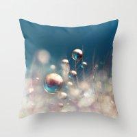 Sparkles & Drops Throw Pillow