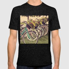 Flower Baskets Mens Fitted Tee Tri-Black SMALL