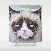 Tard the cat Shower Curtain