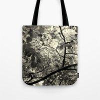 Monochrome Leaf's  Tote Bag