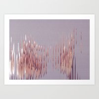 Peach River Art Print