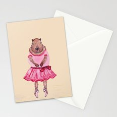 Capybara Ballerina  Stationery Cards