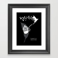 Freedom is a state of mind Framed Art Print