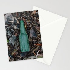 Bottle without a message Stationery Cards