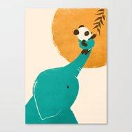 Panda's Little Helper Canvas Print