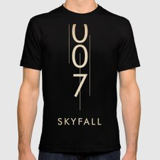 skyfall SMALL Mens Fitted Tee Black