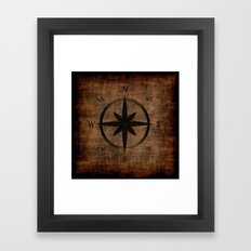 Nostalgic Old Compass Rose Framed Art Print