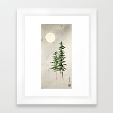 midnight pines Framed Art Print