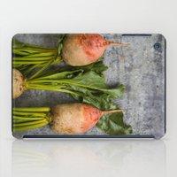 Organic Vegetable - Organic Yellow Beets On Vintage Metal iPad Case
