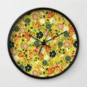 Flourishing Florals Wall Clock
