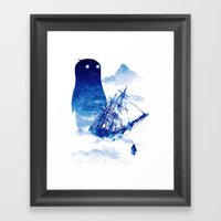 Abandon Ship Framed Art Print