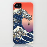 iPhone & iPod Case featuring The Great Wave Of Pug   by Huebucket