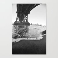 Under The Manhattan Bridge Canvas Print