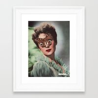 JEAN KENT.  (PIN-UPS). Framed Art Print