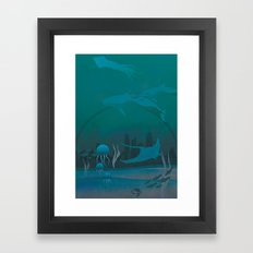 THE DOME - Fantasy | Animals | underwater | Ocean | Sci-fi | Whales | Ocean  Framed Art Print