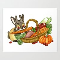 November Jackalope Art Print