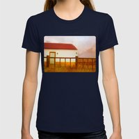 Land Of Soul Womens Fitted Tee Navy SMALL
