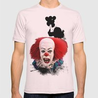Pennywise The Clown: Mon… Mens Fitted Tee Light Pink SMALL