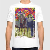 flower power Mens Fitted Tee White SMALL