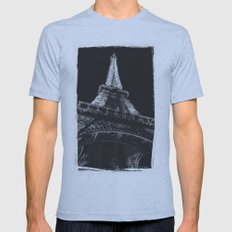 La Tour Eiffel Mens Fitted Tee Athletic Blue SMALL