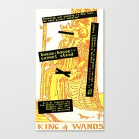King Combover Canvas Print