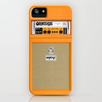 iPhone 5s & iPhone 5 Cases featuring Retro Orange guitar electric amp amplifier iPhone 4 4s 5 5s 5c, ipad, tshirt, mugs and pillow case by Three Second