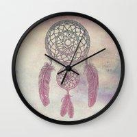 Double Dream Catcher (Rose) Wall Clock