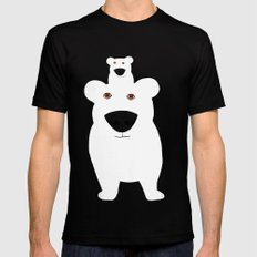Winter - Polar Bear 2 SMALL Mens Fitted Tee Black