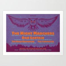 Night Marchers / Dan Sartain Gig Poster. Art Print