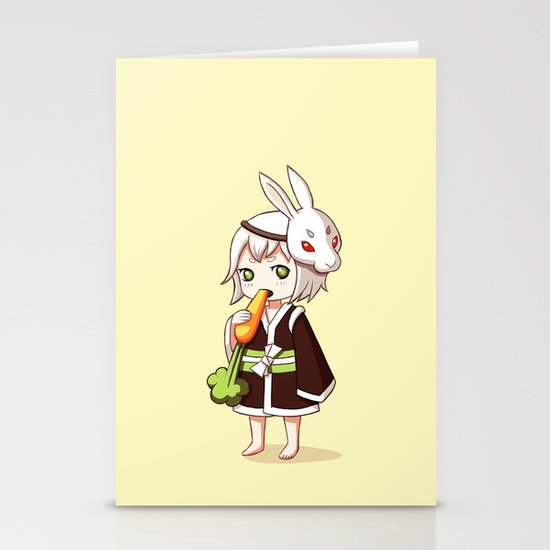 Bunny Mask Stationery Card