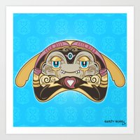 RUFUS (has a heart that shines like a diamond) Art Print