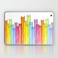 Cat Rainbow Watercolor P… Laptop & iPad Skin