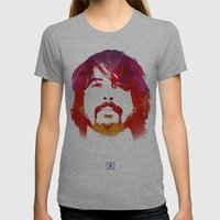 D. Grohl Womens Fitted Tee Athletic Grey SMALL