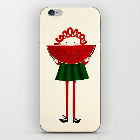 Melone girl iPhone & iPod Skin