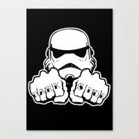 Dark Side Knuckle Canvas Print