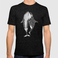 Killer Whales? Mens Fitted Tee Tri-Black SMALL