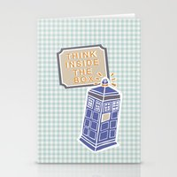 think inside the box Stationery Cards