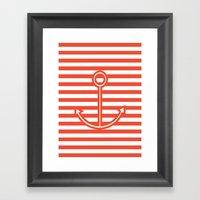 Sailing forward Framed Art Print