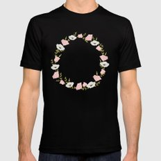 Flowers SMALL Black Mens Fitted Tee