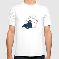 Walrus. Mens Fitted Tee White SMALL