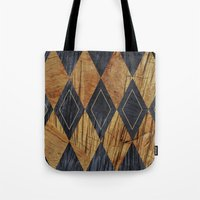 Wood cut abstraction Tote Bag