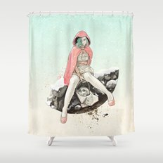 Waiting for the Wolf Shower Curtain