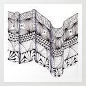 Zentangle Architectural Molding Art Print