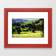Life in the Alpine Ranges Framed Art Print