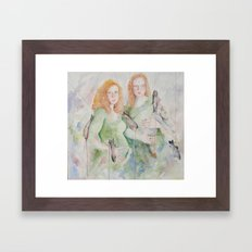 Lot's Daughters  Framed Art Print