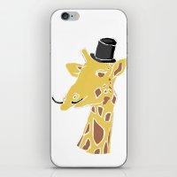Gentleman Giraffe iPhone & iPod Skin
