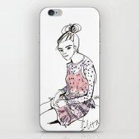 Lolita in a sheer pink polka dot dress  iPhone & iPod Skin