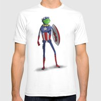 Captain Kermit Mens Fitted Tee White SMALL